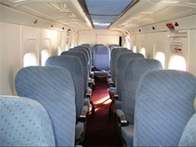 Cabin of the Take Air Dornier 228-550