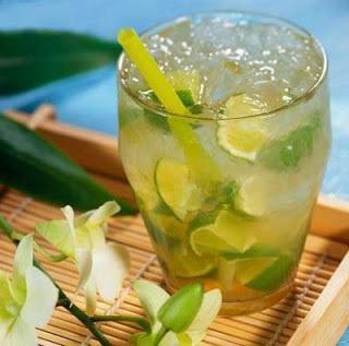 Brazilian Caipirinha drink
