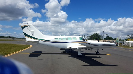 AirSXM's newest fleet addition: Cessna 402B