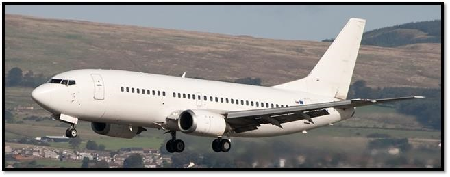 Boeing 737-300 available for wet lease (ACMI) or full charter basis