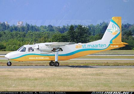 Artist rendition of proposed BN Islander aircraft for AirStMaarten - AirSXM
