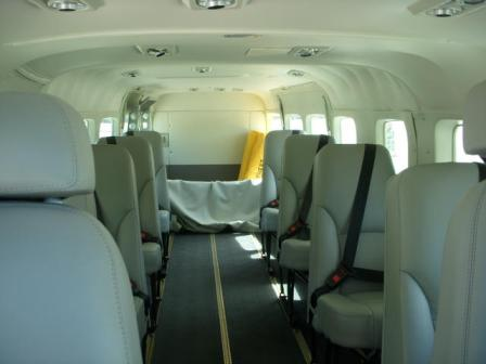 Cessna Grand Caravan interior view of seating