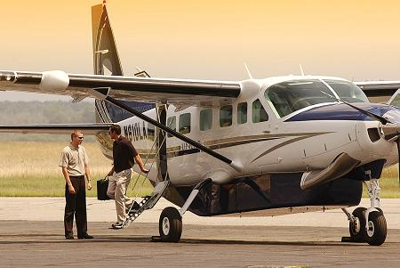 Luxury Grand Caravan used for Private Charters to St. Barths