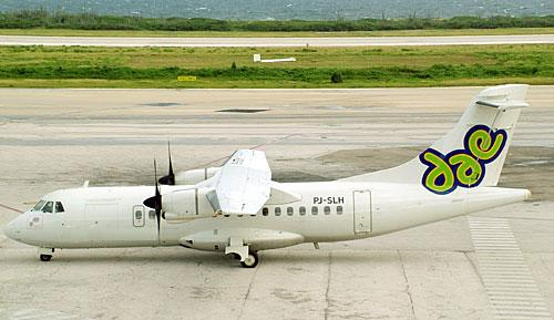 You will be flying with this ATR42-500 aircraft