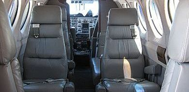 Super King Air B200 interior