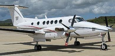 Super King Air B200 9-seater aircraft