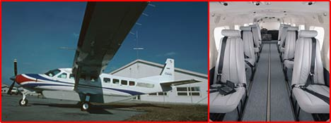 Cessna Caravan 208B with interior view