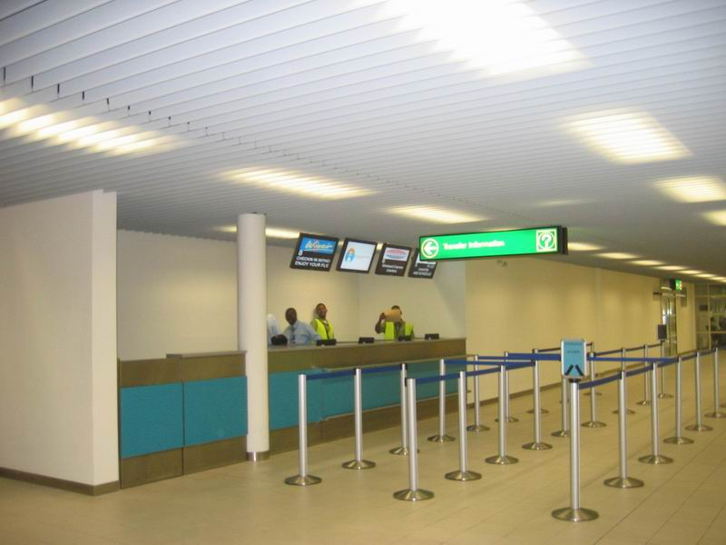 View of the Transit Info Desks from entrance gates 1 and 2