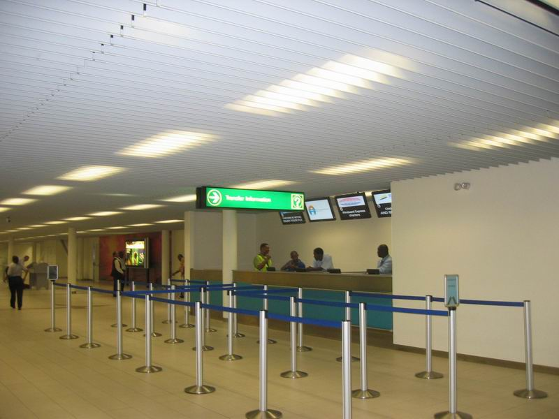 View of Transit Info Desks from entrance gates 3 and 4