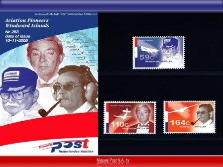 Commemorative Stamps featuring Aviation Pioneers of the Windward Islands