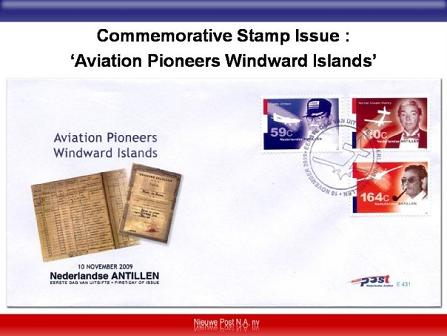 First Day Issue Aviation Pioneers of the Windward Islands Stamps