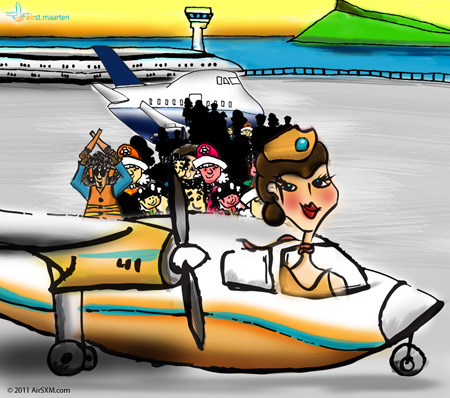 Air St. Maarten Shared Charters Share-A-Charter Cartoon (c) 2011