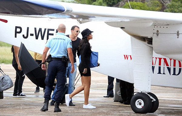 Rihanna sighted in St. Barths