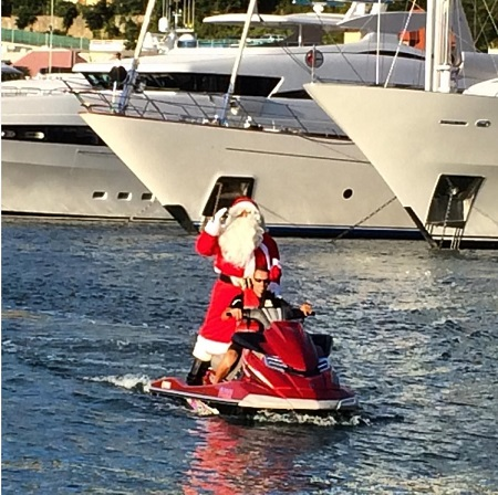 Santa in St. Barths - December 2015