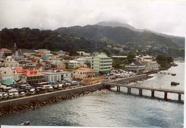 Roseau - the capital of Dominica