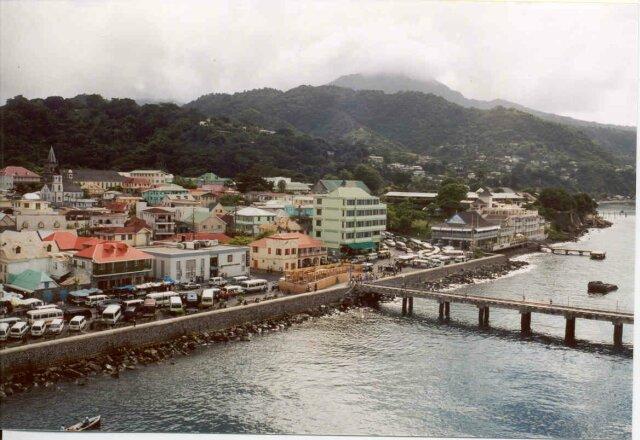 Roseau - the capital of Dominica