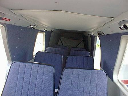 Rearview interior BN Islander cabin seating area