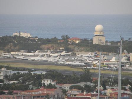 Private jets on St. Maarten