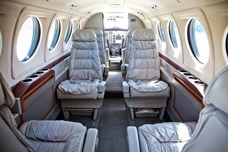 AirStMaarten Super King Air VIP-style Executive Interior