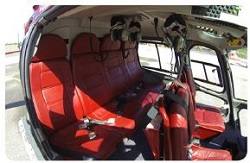 Interior seating 5-seater Eurocopter AS 355-N Helicopter