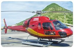 Eurocopter AS 355-N Helicopter in St. Martin