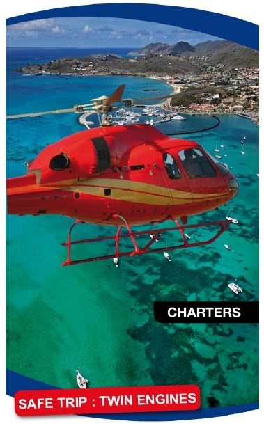 Air St. Maarten Helicopter for Aerial Photography Shoots & Sightseeing Island Tours