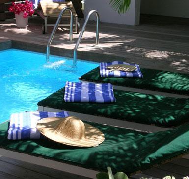 Normandie Hotel St. Barths pool scene