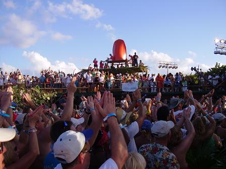 Parrotheads at Jimmy Buffett concert in Anguilla March 24 2007