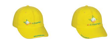 AirStMaarten AirSXM.com Yellow Caps - Merchandising