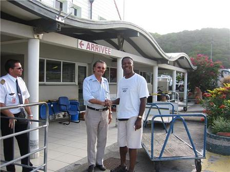 Terrance Rey & Bruno Magras at St. Barths Airport