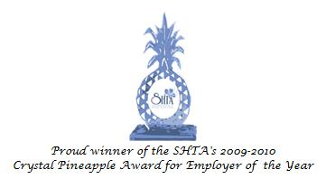 Crystal Pineapple Award 2009-2010 Employer of the Year: AirStMaarten