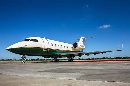 Challenger 600 private jet aircraft