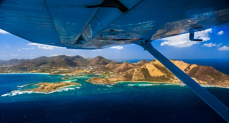 Aerial Photo Pinel Island by Philippe Castagna