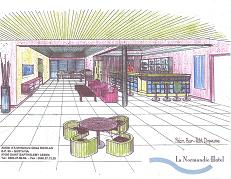 Artist impression of The Normandie Hotel in St. Barths - Small Boutique Hotel