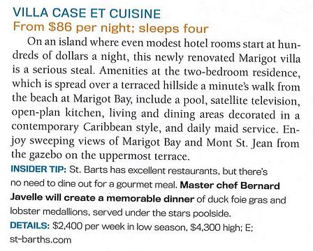 Villa Case et Cuisine is an island bargain according to Caribbean Travel & Life