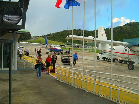 Winair Twin Otters in St. Barths on the Airport ramp