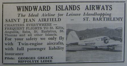 Old Windward Islands Airways advertisement